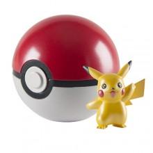 Набор игрушка Покемон Пикачу и мяч  (покебол) Pokemon 20th Anniversary 2 inch Clip 'n' Carry Poke Ball Action Figure with Poke Ball - Pikachu