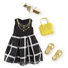 Набор одежды для кукол  Девочки Путешественницы Journey Girls Plaid Dress Set