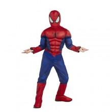 Костюм Человек Паук  Spider man  на 3-4 года маска, костюм. Костюм рельефный. На руках встроена игрушечная паутино-стрелялка