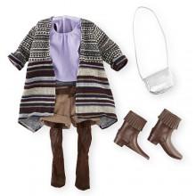 Набор одежды для кукол Девочки Путешественницы Journey Girl Striped Cardigan