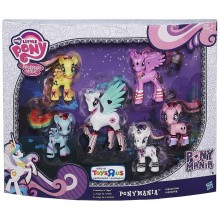 Набор кукол пони 6 шт. My Little Pony Friendship is Magic Ponymania Collection