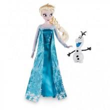 """Кукла Барби Эльза с Олафом Дисней шарнирная. С фильма """"Холодное Сердце""""."""
