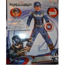 Карнавальный детский костюм  Капитан Америка, размер 3T-4T на рост 86-105 см.