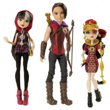 Набор 3  куклы Эвер Афтер Хай  Сериз , Хантер (Охотник), Лиззи Ever After High Tricastleon Doll 3-Pack