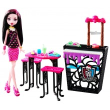 Набор кукла Дракулаура и кафе Monster High Beast Bites Cafe Draculaura Doll & Playset