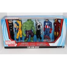 Набор Фигурок Супер-героев Марвел 6 шт Marvel Universe Titan Heroes Super Hero Collection Variant Spider-Man Target Exclusive Hulk Wolverine
